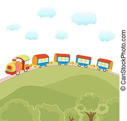 cute cartoon train vector illustration