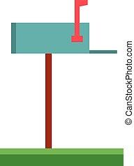 Cute cartoon vector illustration of a mailbox