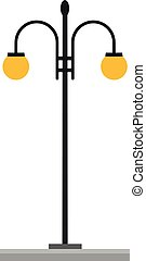 Cute cartoon vector illustration of a streetlight