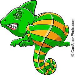Cute iguana animal cartoon