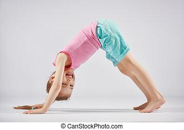girl enjoying yoga