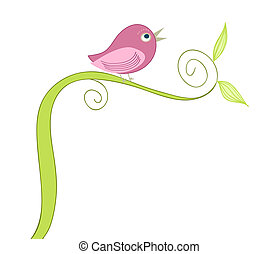 cute singing bird