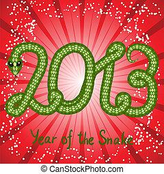 Cute snake (symbol of 2013 year)