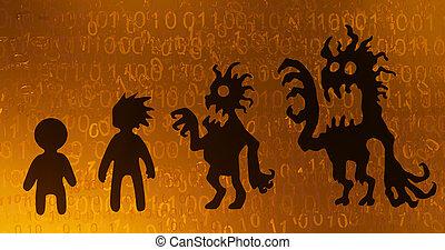 Cyberspace Virtual Identity Corrupting