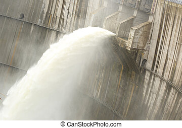 dam discharge water in the summer time