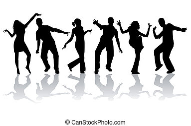 Dancing silhouettes - large collection