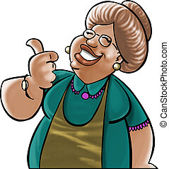 Mather ou grandmother looking like a good cooker
