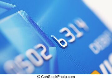 Debit Card - Digital Payments Processing System. Bank Card. Financial Photo Collection.