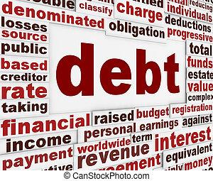 Debt financial poster