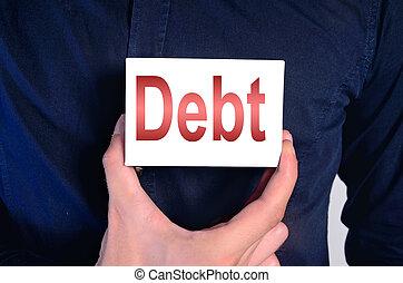 debt man chest