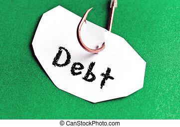 Debt message on paper