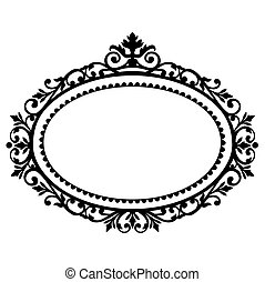 Decorative black frame on the retro background with space for your text, full scalable vector graphic for easy editing and color change, included Eps v8 and 300 dpi JPG