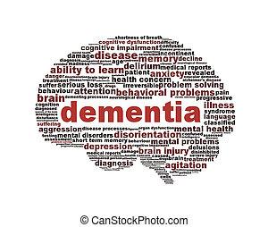Dementia symbol conceptual design isolated