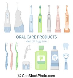 Dental cleaning products, oral care hygiene tools