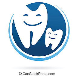 dental clinic vector icon and element - smile teeth