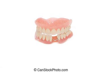 Dental prosthesis on white background