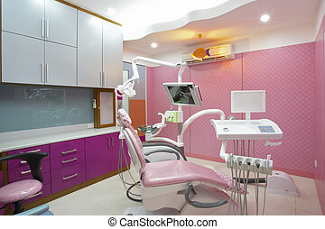 panoramic view of interior of dental office