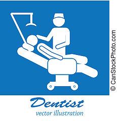 dentist icon over blue background vector illustration