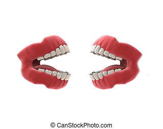 3d rendered illustration of human teeth