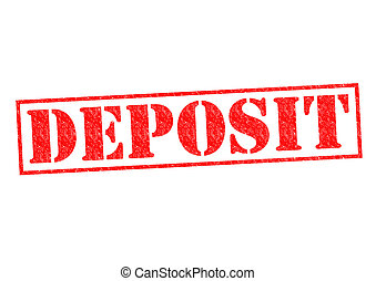 DEPOSIT Rubber Stamp over a white background.
