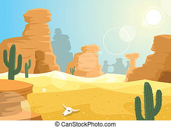 Desert landscape. No transparency used.