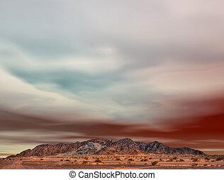 Desert mountain ravaged by mining