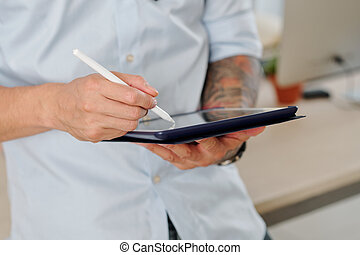 Designer with digital pen