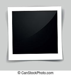 detailed illustration of a retro photo frame