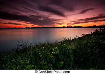 Detroit River Sunset