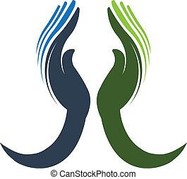 Devoted hands Logo Vector