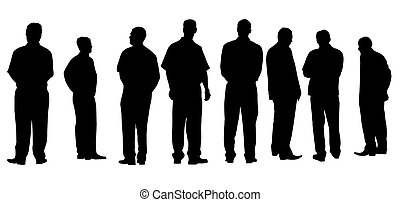 different businessmen isolated