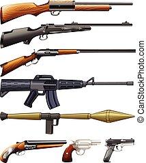 Different kind of fireguns