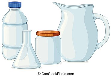 Different types of containers