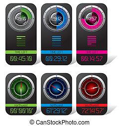 Digital Chronometer and Compass Displays