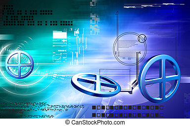 Digital illustration of Clinical symbol in isolated background
