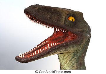 dinosaur model of raptor carnivor