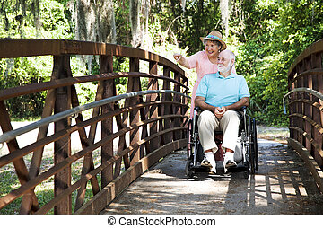 Disabled Seniors in Park