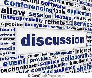Discussion poster design