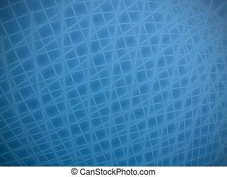 Complex distort blue on blue grid background