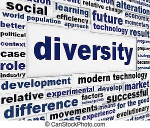 Diversity creative poster design