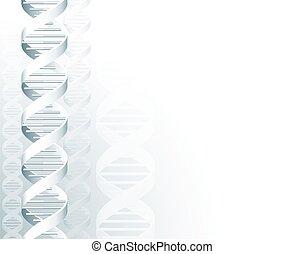 DNA Double Helix Molecule Background