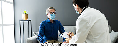 Doctor With Senior Patient Living At Home