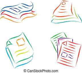 paper documents sketch abstract vector