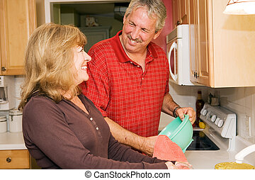 Doing Dishes Together