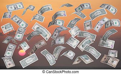 dollars in front of sundown