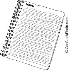 doodle notebook - black and white colors