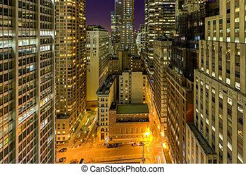 Downtown Manhattan at Night