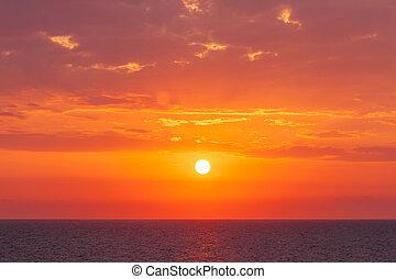 dramatic sunset at the Black Sea