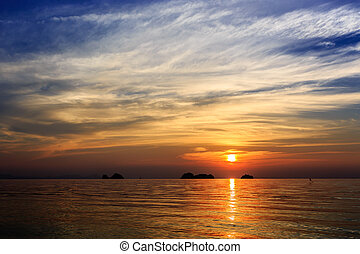 Dramatic Sunset in Samui, Thailand