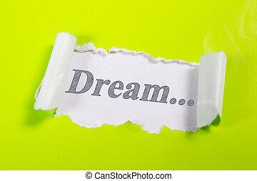 Dream. Words Typography Concept